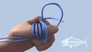 Рибальський вузол павук - Spider hicth fishing knot