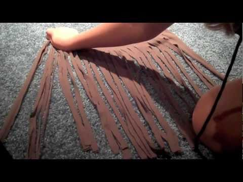 how to add fringe to a scarf