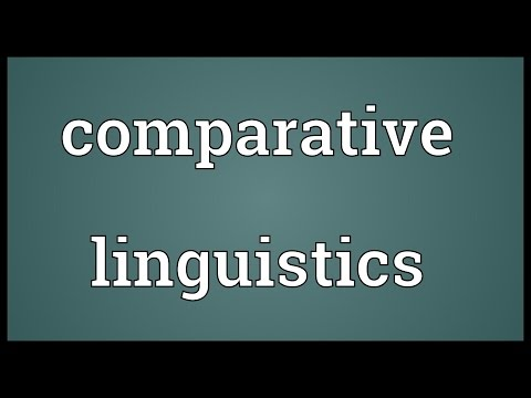 Comparative linguistics Meaning