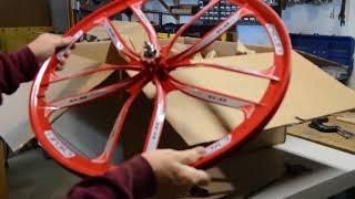 """Unboxing 26""""BBR heavy duty motorized bike mag wheels"""