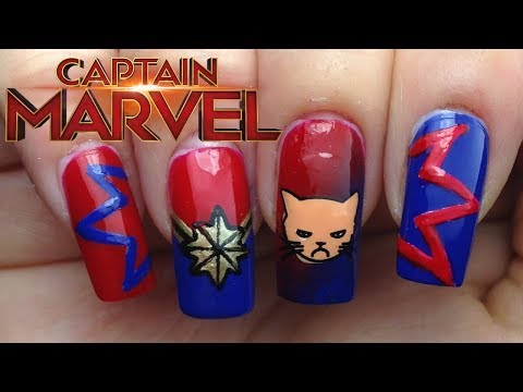 Captain Marvel Nails
