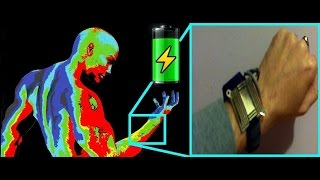 Body Heat to Electricity - Thermoelectric Energy Harvesting Watch + Charger