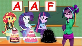 Equestria Girls The Funny Story Of Learn Make a Surprise Birthday Cake