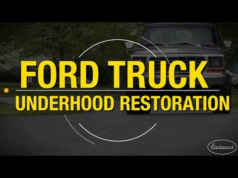 How To Paint An Engine Compartment - Complete Underhood Restoration - Eastwood