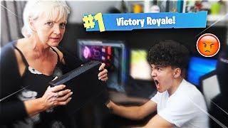 Mom Tells 15 Year Old Kid He Can't Play Fortnite Ever Again *HE CRIED*