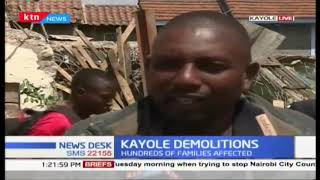 Kayole demolitions continue as residents and locals leaders stage protests