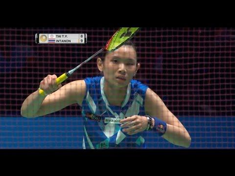 Yonex All England Open 2017   Badminton F M5-WS   Tai Tzu Ying vs Ratchanok Intanon