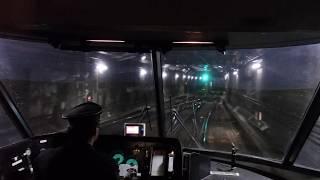 近鉄特急アーバンライナー(plus・大阪難波行き)名古屋駅発車前面車窓