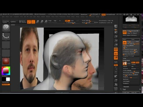 Image planes for head reconstruction