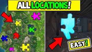 """ALL JIGSAW PUZZLE PIECES LOCATIONS! Fortnite """"Search Jigsaw Puzzle Pieces in Basements"""" WEEK 10"""