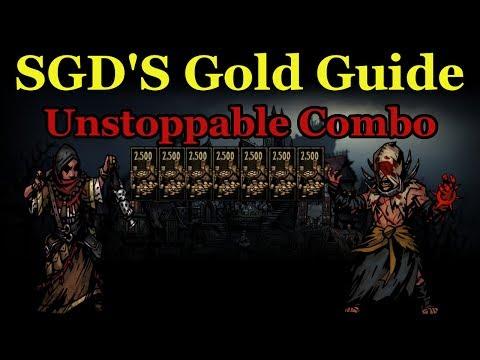 SGD Plays Darkest Dungeon | Gold Guide Flagellant Antiquarian Combo + Shambler