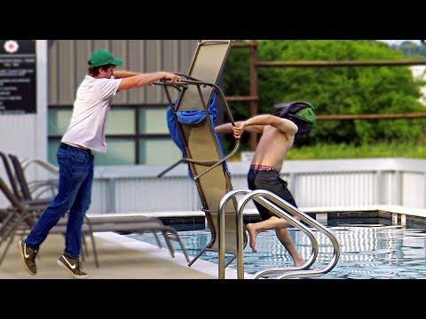 Chair Pulling Splash Prank