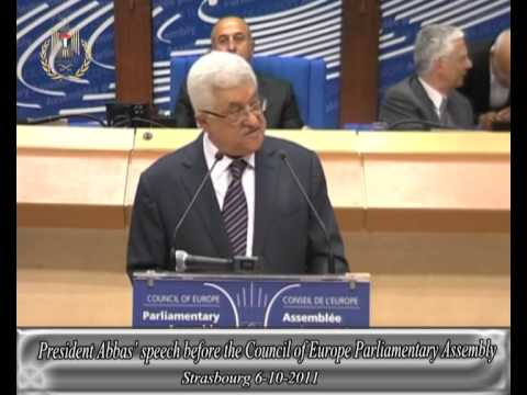 President Abbas' speech before the Council of Europe Parliamentary Assembly