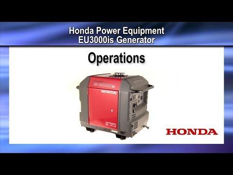 EU3000iS Generator Operation