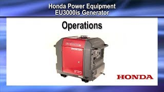 EU3000iS Generator Operation