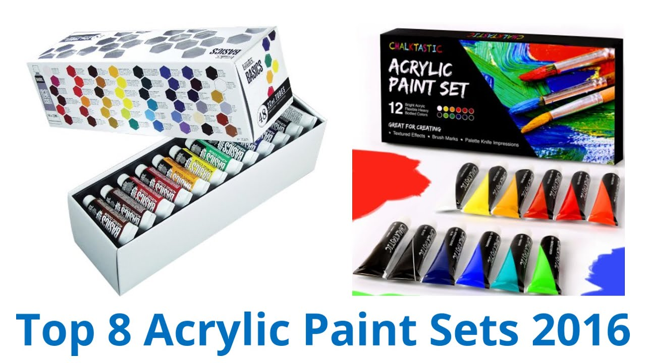 8 best acrylic paint sets 2016 youtube