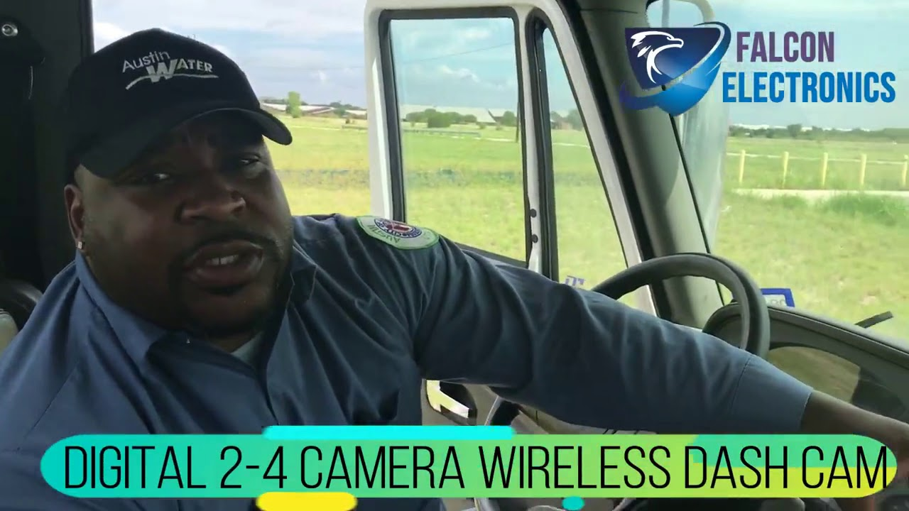 Truck Driver And His Digital Wireless Dash Camera System