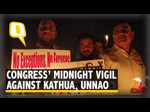 Hundreds Join Rahul Gandhi's March Against Kathua-Unnao Rapes