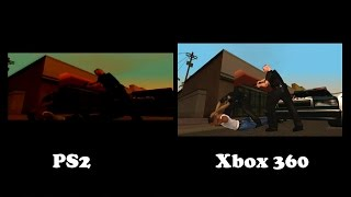 GTA San Andreas: Xbox 360 Vs. PS2  Comparison - San Andreas HD 720p Gameplay