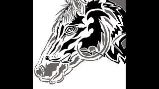 Быстрый рисунок Конь-волк\ speed drawing Horse-Wolf