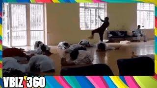 Clip: Sốc với thầy giáo dạy võ đánh học sinh như đập đất ở Vĩnh Phúc