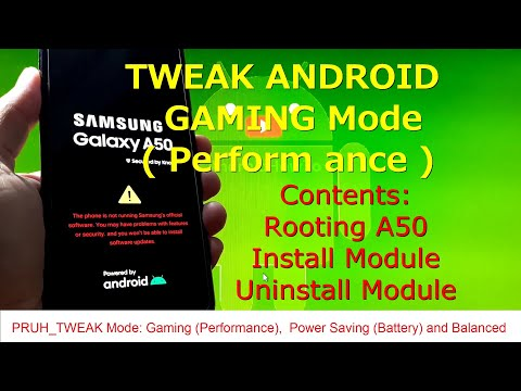 How to Tweak Samsung Galaxy A50 for Gaming using Pruh_Tweaks