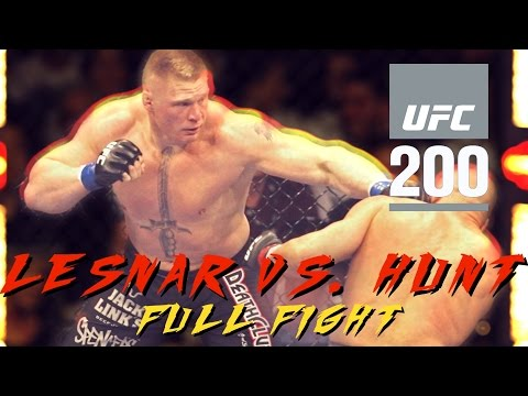 UFC 200: Brock Lesnar vs. Mark Hunt Knockout (Full Fight Highlights)