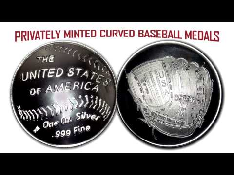 Curved Baseball Coin Replica - First Curved Medal from a Pri
