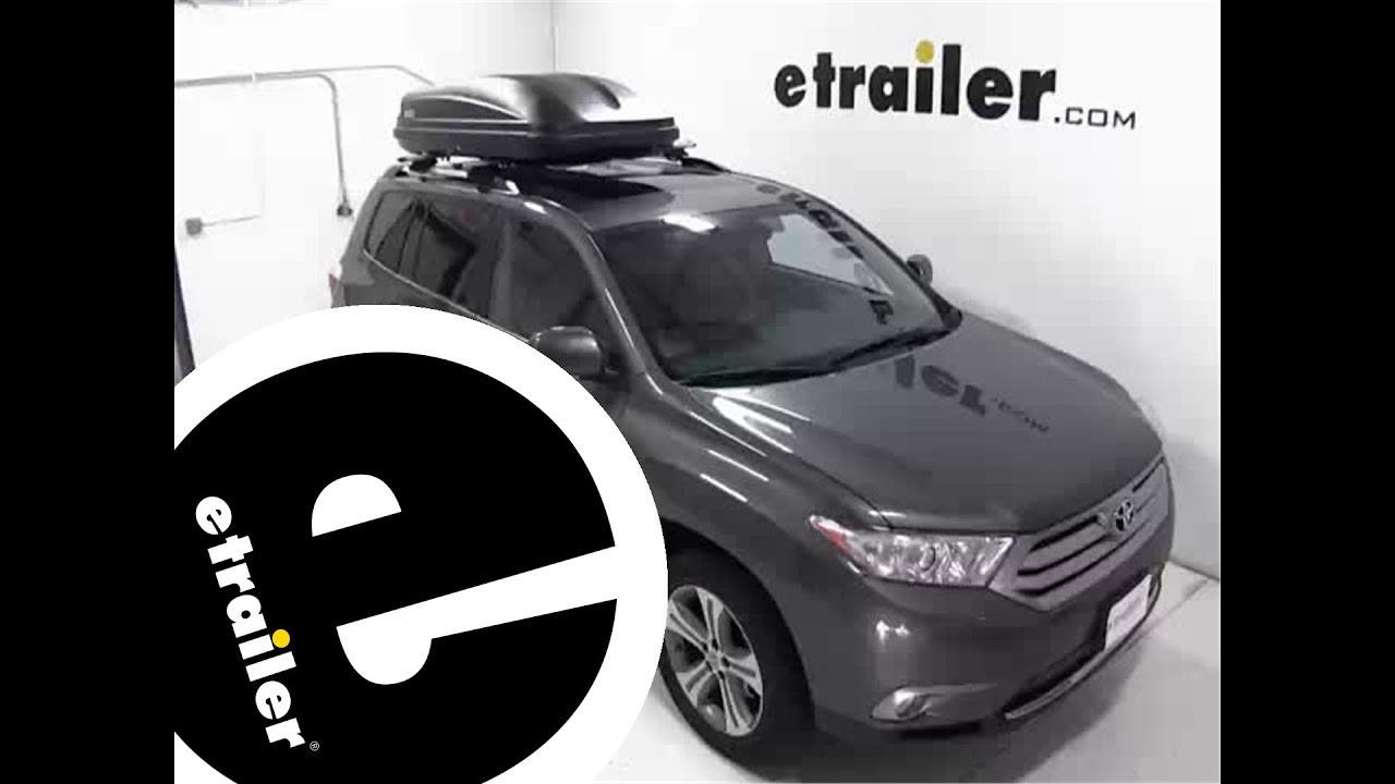 Thule Pulse Large Rooftop Cargo Box Review 2013 Toyota