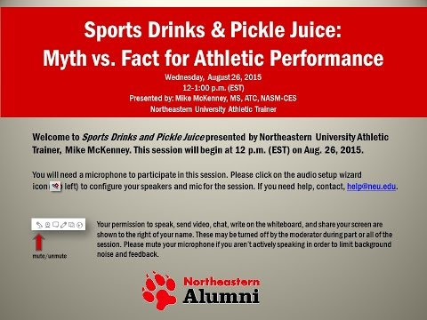 Northeastern University Alumni Webinar Series: Sport Drinks & Pickle Juice