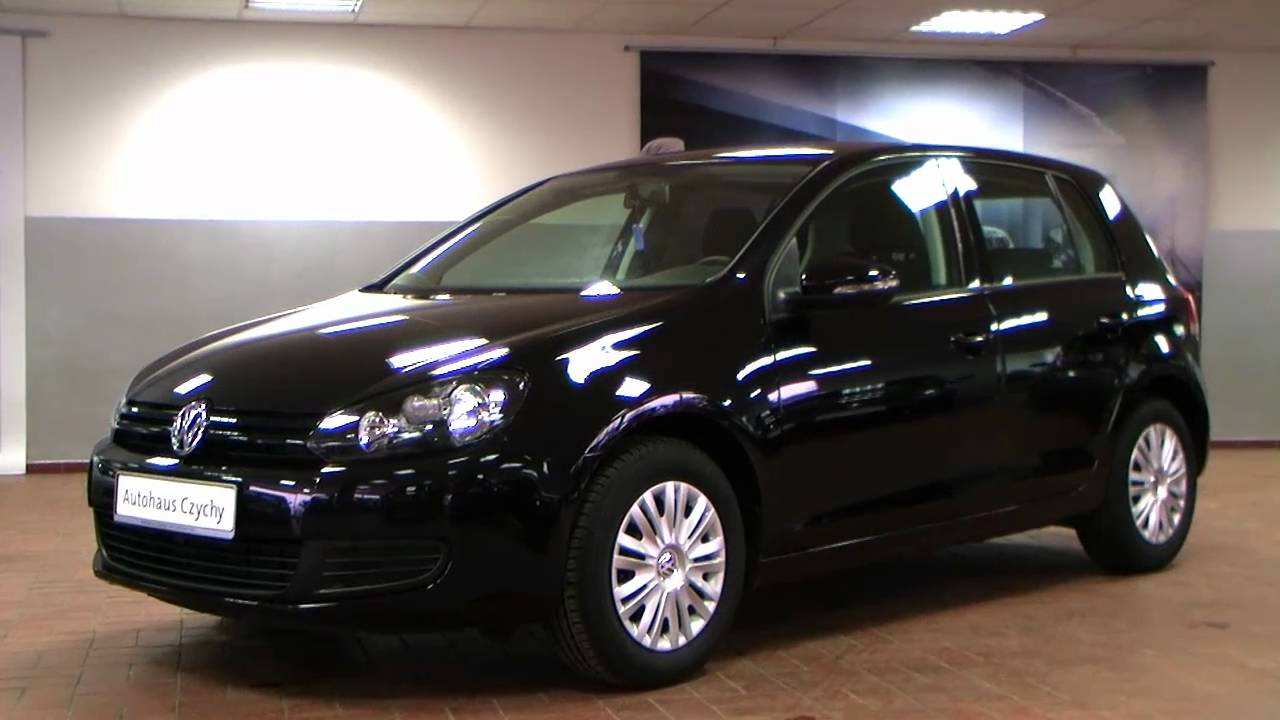 volkswagen golf vi 1 4 trendline 2010 deep black perleffekt aw352134. Black Bedroom Furniture Sets. Home Design Ideas