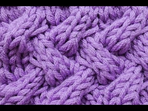 How to Knit the Two Color Plaited Basketweave Stitch FunnyCat.TV
