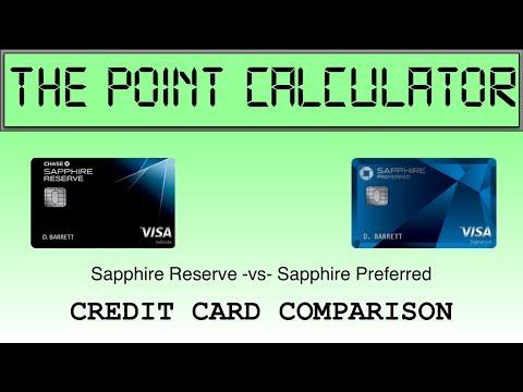 Chase Sapphire Reserve vs Preferred Comparison Calculator