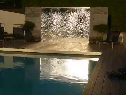 mur d 39 eau sur mesure alex aquadesign lausanne gen ve suisse www fountain ch youtube. Black Bedroom Furniture Sets. Home Design Ideas