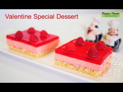 Valentine Day Dessert | Valentines day cake dessert ideas recipe | Valentines day recipe Jello Cake