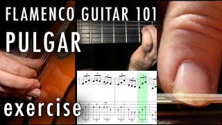 Flamenco Guitar 101 - 26 - Flamenco Pulgar Exercise - Solea