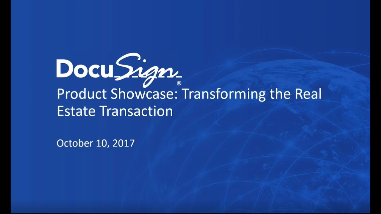 DocuSign\'s Transaction Rooms: Product Showcase - YouTube
