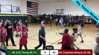 Class C1 Section V Boys Basketball 1st Round Sectional Game