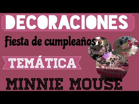 Decoraciones para fiesta infantil, temática de: Minnie Mouse👌🏻🎀