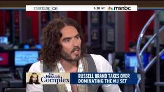Russell Brand Shows MSΝBC [HD] How a Guest Should be Interviewed