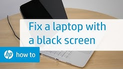 How to Fix an HP Laptop with a Black Screen | HP Computers | HP