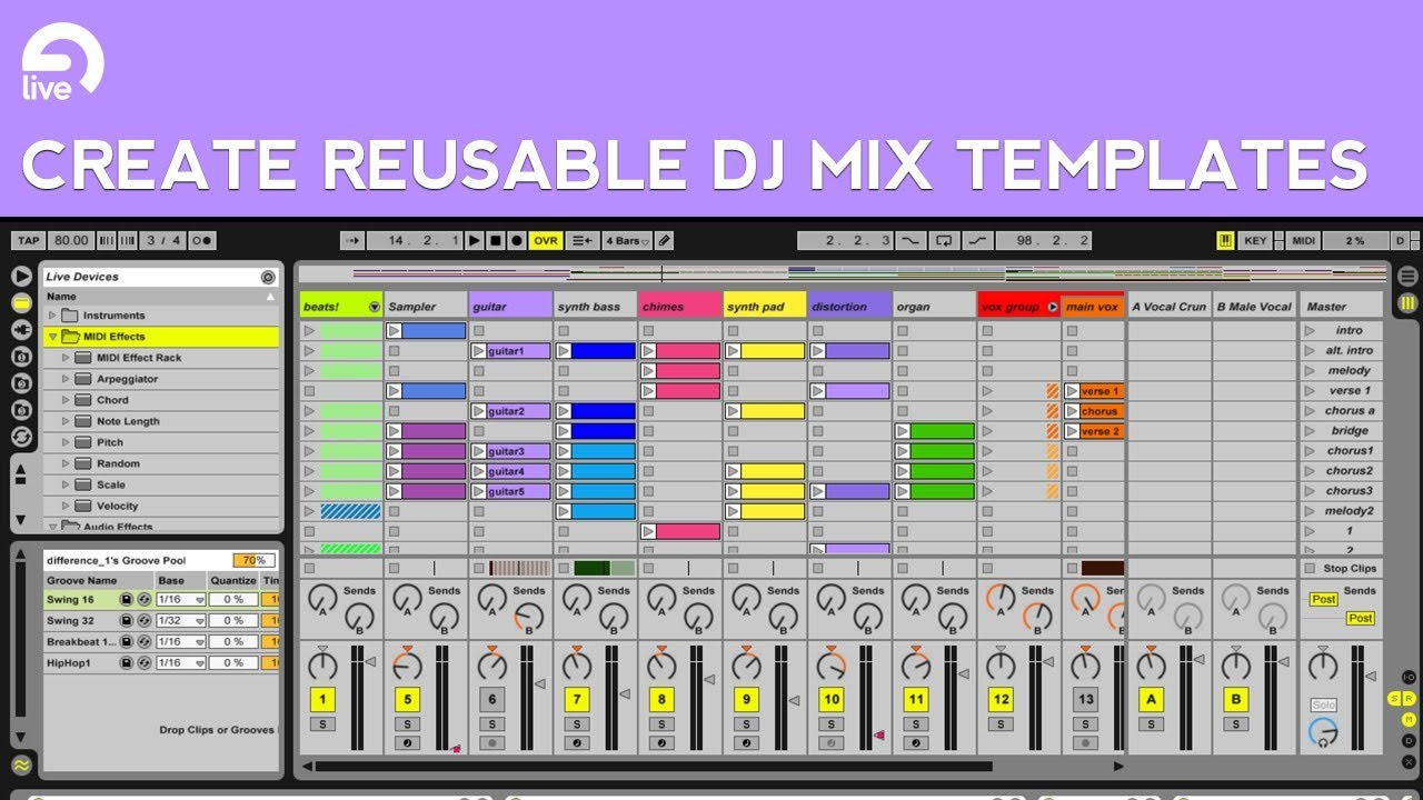 Ableton Live Tutorial: How to Create DJ Mix Templates - YouTube