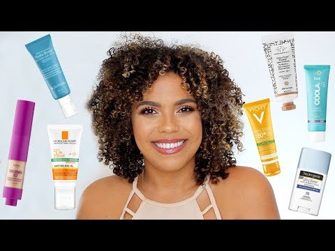 Best SPFs For Oily Skin And Dark Skin! Sunscreen And Moisturizers For Oily Skin