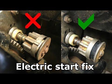 snowblower electric start repair spins but won't start starter armature starter pinion gear schematic #10