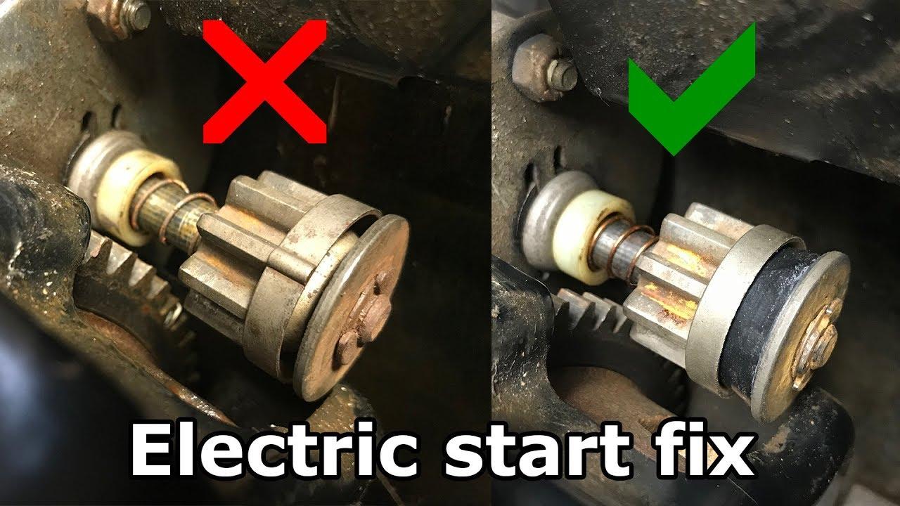 Snowblower electric start repair - spins but won't start