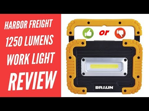 Harbor Freight 1250 Lumen Work Light Battery Bank Braun LED Light