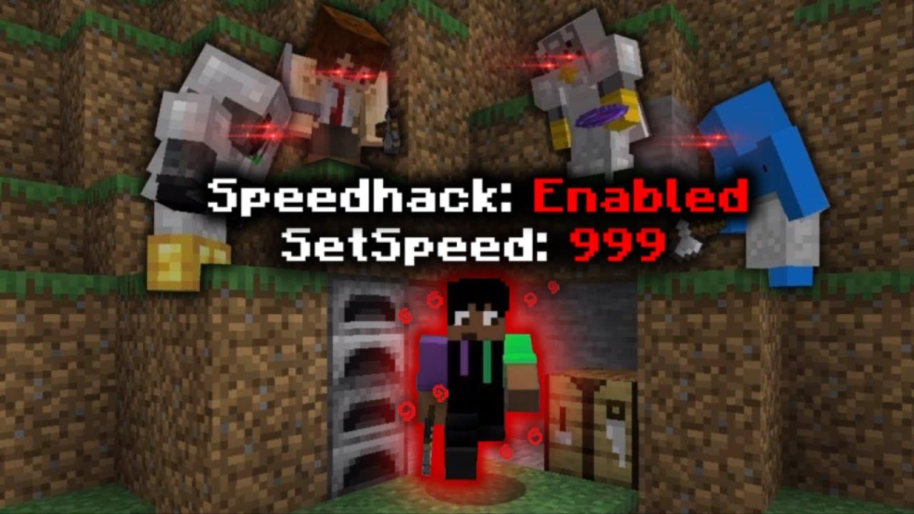 Minecraft Manhunt, but I secretly used SPEED HACKS