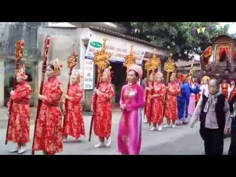 Rước kiệu lễ hội Đền Hai Bà Trưng Mê Linh