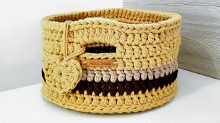 Aprenda Fazer Cesto de Fio de Malha – Cesto de Crochê
