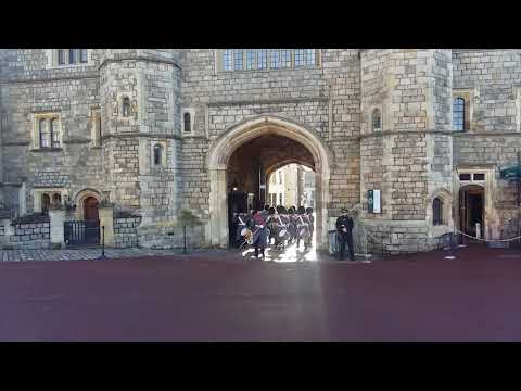 Changing of the guard at Windsor Castle - January 2018